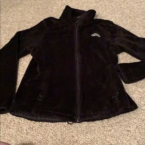 North Face fleece zip up, women's small petite